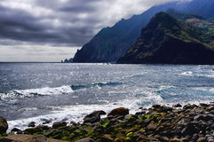 Beach, Madeira island, Portugal stock photos