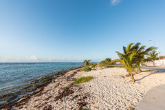 The beach in Mahahual, Mexico Royalty Free Stock Image