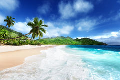 Beach at Mahe island Stock Photos