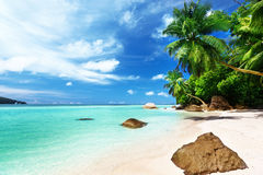 Beach on Mahe island Royalty Free Stock Image