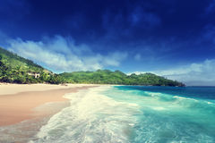 Beach at Mahe island Royalty Free Stock Photography