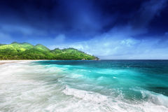 Beach at Mahe island Stock Image