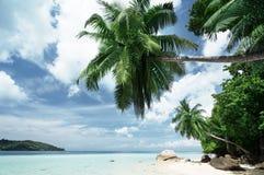 Beach on Mahe island Stock Photos