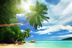 Beach on Mahe island, Seychelles Stock Images