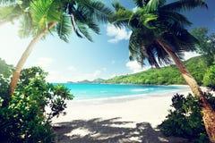 Beach, Mahe island, Seychelles Stock Images