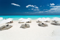 On the beach. The main beach in Cancun - Mexico Royalty Free Stock Photography