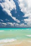 On the beach. The main beach in Cancun - Mexico Stock Photo