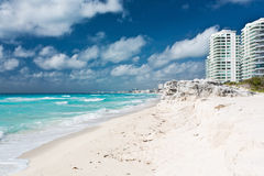 On the beach. The main beach in Cancun - Mexico Royalty Free Stock Photo