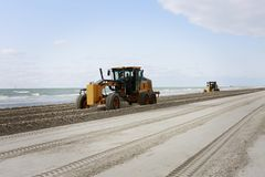 Beach Maintenance. stock images