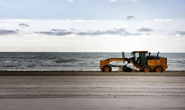 Beach Maintenance. Stock Photos