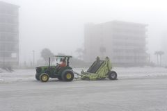 Beach Maintenance at Madeira Beach Stock Photos