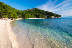 Beach at Makarska, Croatia Royalty Free Stock Photo
