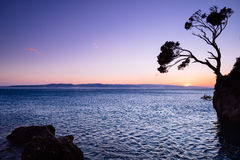 Beach at Makarska, Croatia Stock Photo