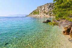 Beach in Makarska riviera. Beautiful beach in Makarska Riviera, Dalmatia Stock Images