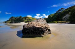 Beach in Maketu, Bay of Plenty Royalty Free Stock Photo