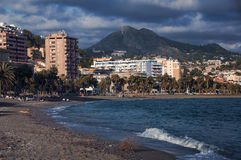 Beach in Malaga Stock Image