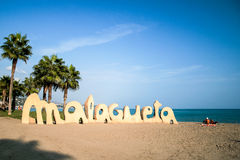 Beach in Malaga Stock Photography