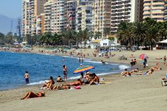 Beach, Malaga, Spain. Royalty Free Stock Photos