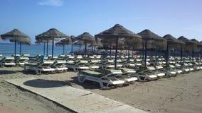 Beach Malaga spain Royalty Free Stock Photography