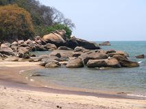 Beach in Malawi. A beach on Malawi Lake in Malawi Stock Photography