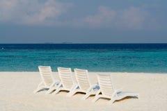 Beach on a Maldive Island Stock Photo