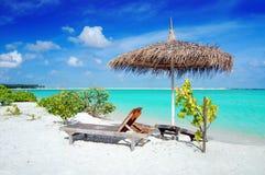 Beach in Maldives Stock Photo
