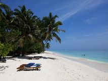 Beach. On the maldives Stock Images