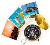 Beach maldives images and compass Royalty Free Stock Image