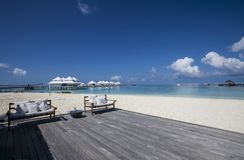 Beach in the Maldives Royalty Free Stock Photography