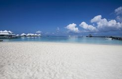 Beach in the Maldives Royalty Free Stock Photo