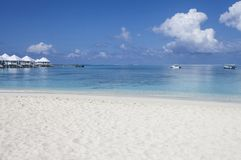 Beach in the Maldives. Paradisiacal landscape tropical beach in the Maldives Stock Photo