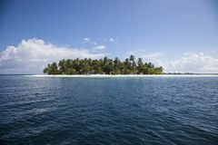 Beach in the Maldives. Paradisiacal landscape tropical beach in the Maldives Royalty Free Stock Photo