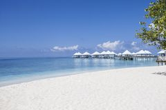 Beach in the Maldives Royalty Free Stock Photos