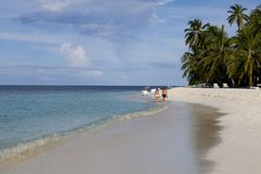 Beach in the Maldives Stock Photography