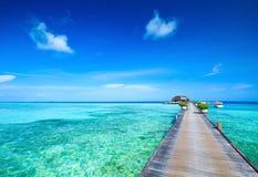 Beach with  Maldives Stock Photo