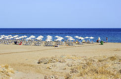 Beach in Malia, Crete Royalty Free Stock Images