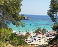 Beach. In Mallorca Stock Photography
