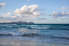 Beach on Mallorca, Can Picafort Royalty Free Stock Photography