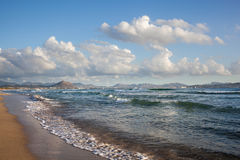 Beach on Mallorca, Can Picafort Royalty Free Stock Images