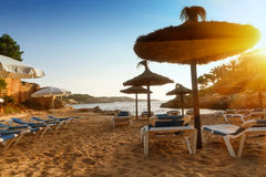 Beach in Mallorca. Scenic sunrise on the beach in Mallorca Royalty Free Stock Photography