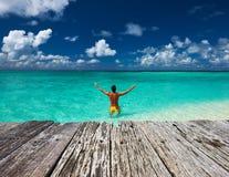 beach man tropical Στοκ Φωτογραφίες