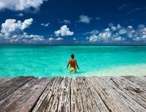 beach man tropical Στοκ Φωτογραφία