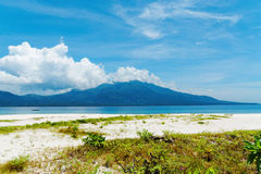 Beach on Mantigue Island, Philippines royalty free stock photography
