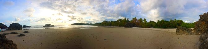 Beach of Manuel Antonio, Panoramic royalty free stock photos
