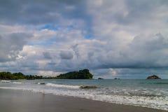 Beach in Manuel Antonio village, Costa Ri stock photo