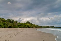 Beach in Manuel Antonio village, Costa Ri royalty free stock image
