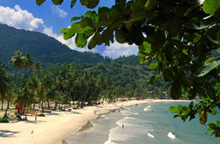 Beach of the Maracas Bay, Trinidad Stock Photos
