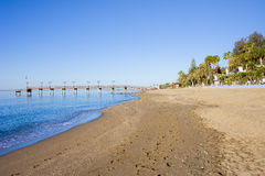 Beach in Marbella Royalty Free Stock Image