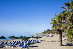 Beach in Marbella Stock Images