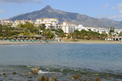 Beach in Marbella Royalty Free Stock Images